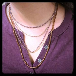 Jewelry - Multi Strand Bead & Chain Necklace